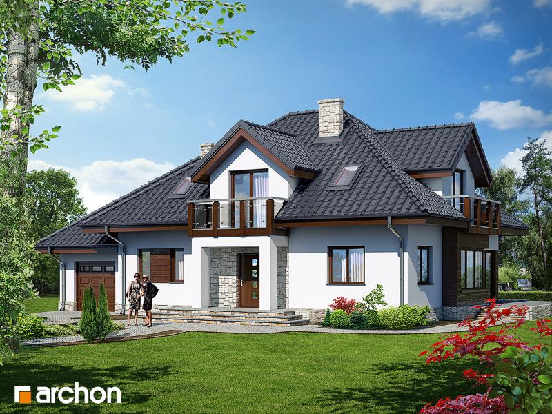 Проект будинку ARCHON+ Будинок в каллах 3 вер.2 стилізація 3