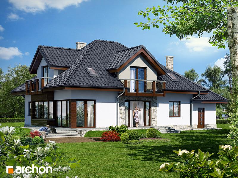 Проект будинку ARCHON+ Будинок в каллах 3 вер.2 стилізація 4