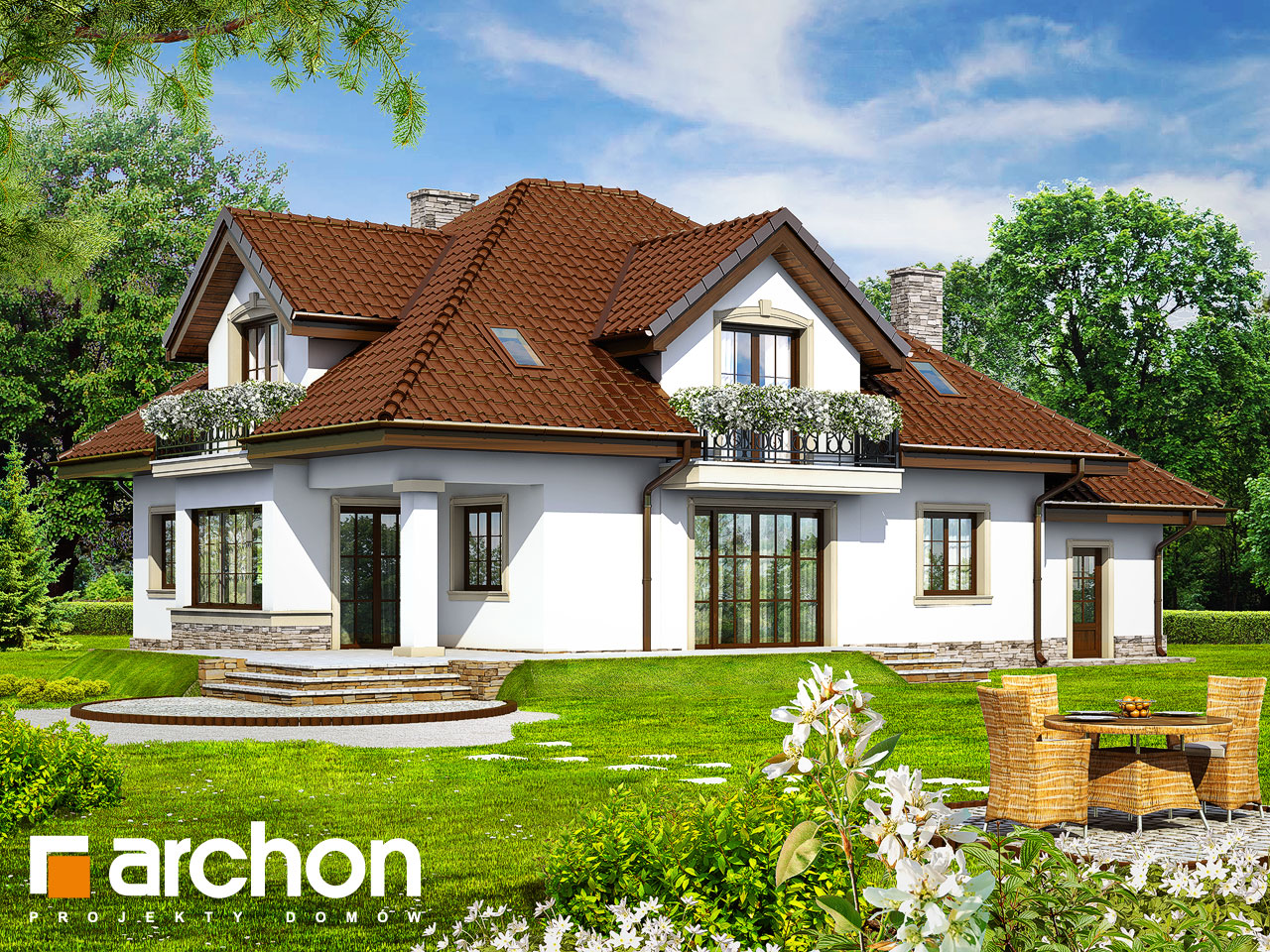 Проект будинку ARCHON+ Будинок в каллах 3 вер.2 Вид 2
