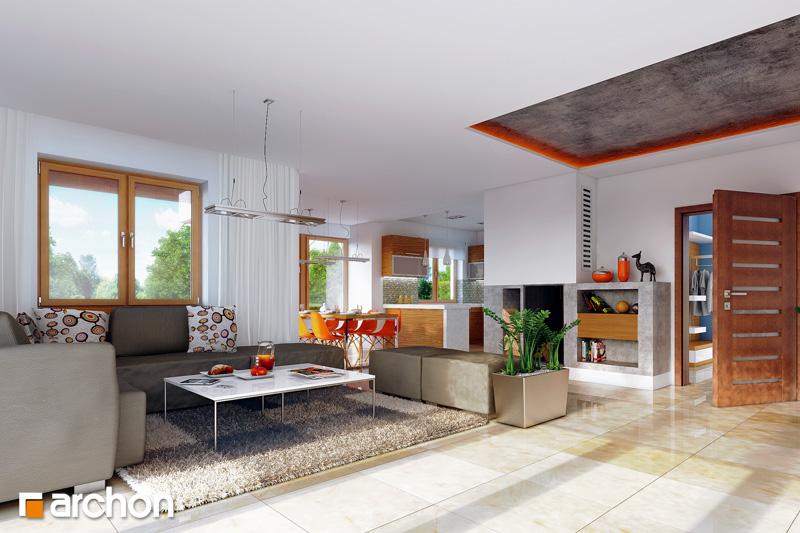 Проект будинку ARCHON+ Будинок в каллах 3 вер.2 денна зона (візуалізація 1 від 1)