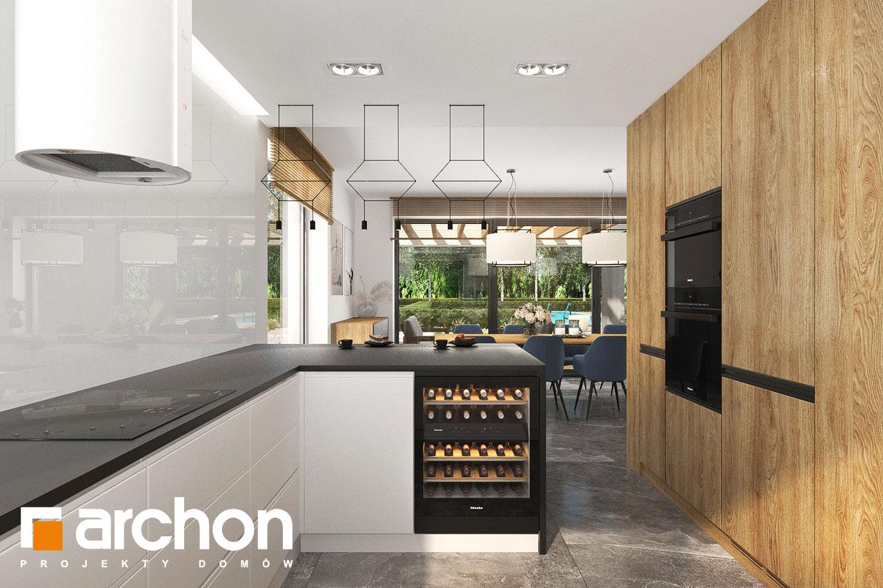 Проект будинку ARCHON+ Будинок в мірабілісах (Г2) візуалізація кухні 1 від 2