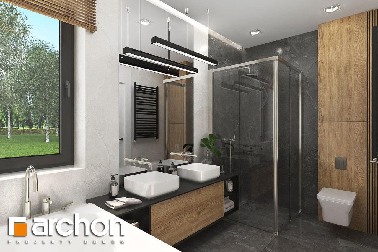 Проект будинку ARCHON+ Будинок в мірабілісах (Г2) візуалізація ванни (візуалізація 3 від 2)
