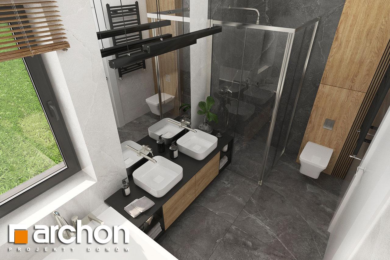 Проект будинку ARCHON+ Будинок в мірабілісах (Г2) візуалізація ванни (візуалізація 3 від 4)