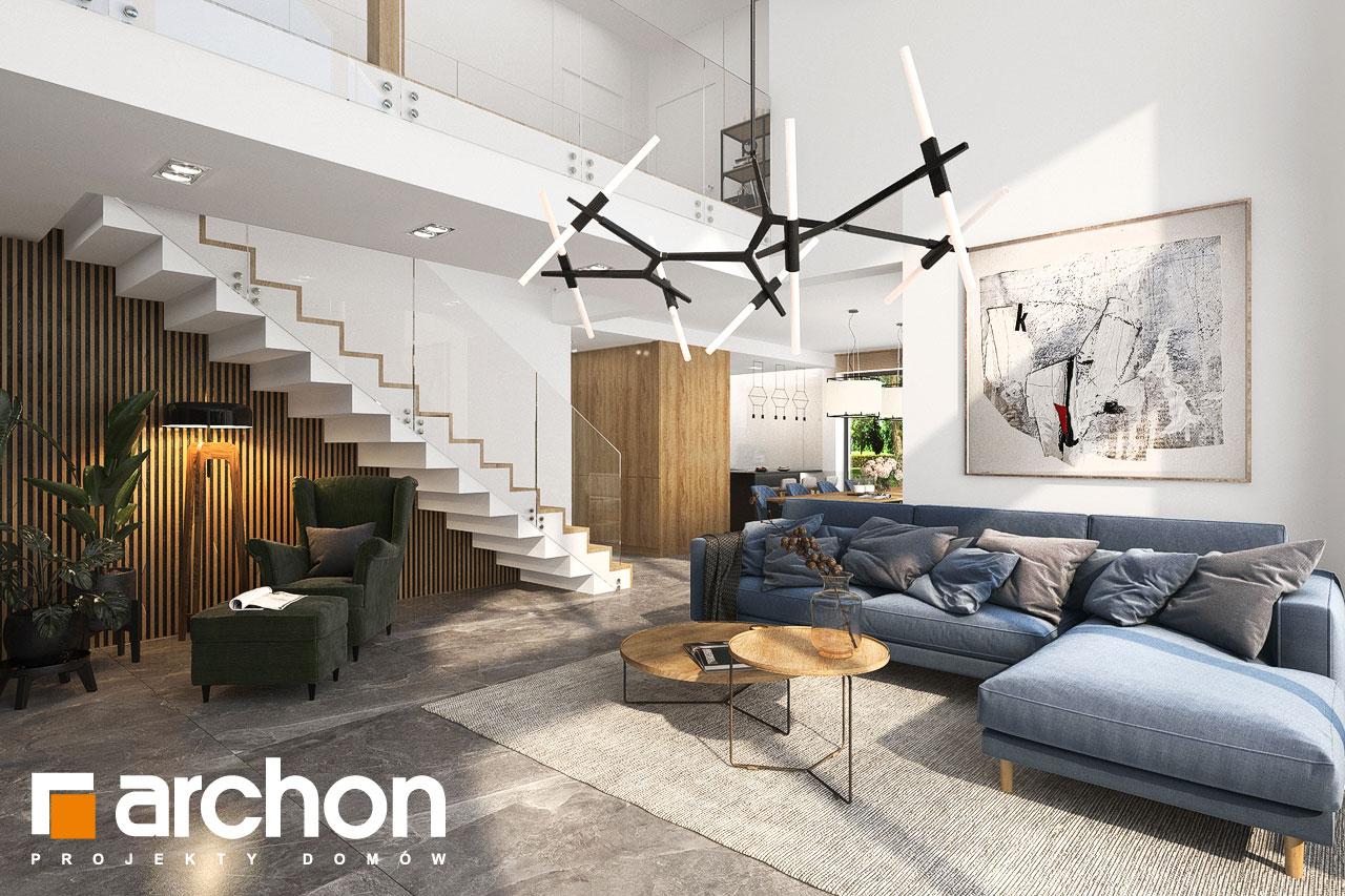 Проект будинку ARCHON+ Будинок в мірабілісах (Г2) денна зона (візуалізація 1 від 7)