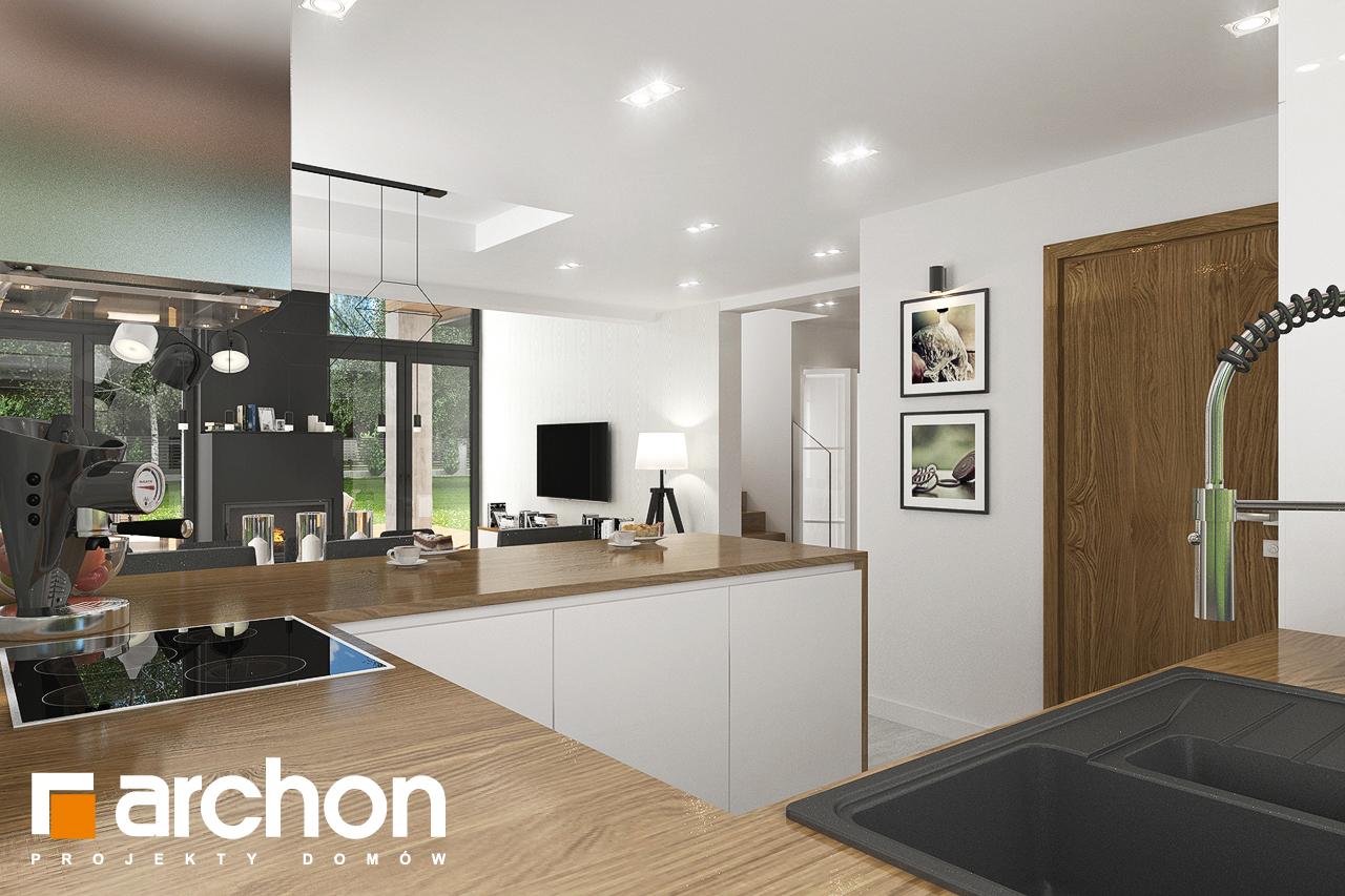 Проект будинку ARCHON+ Будинок в ветіверії  візуалізація кухні 1 від 2