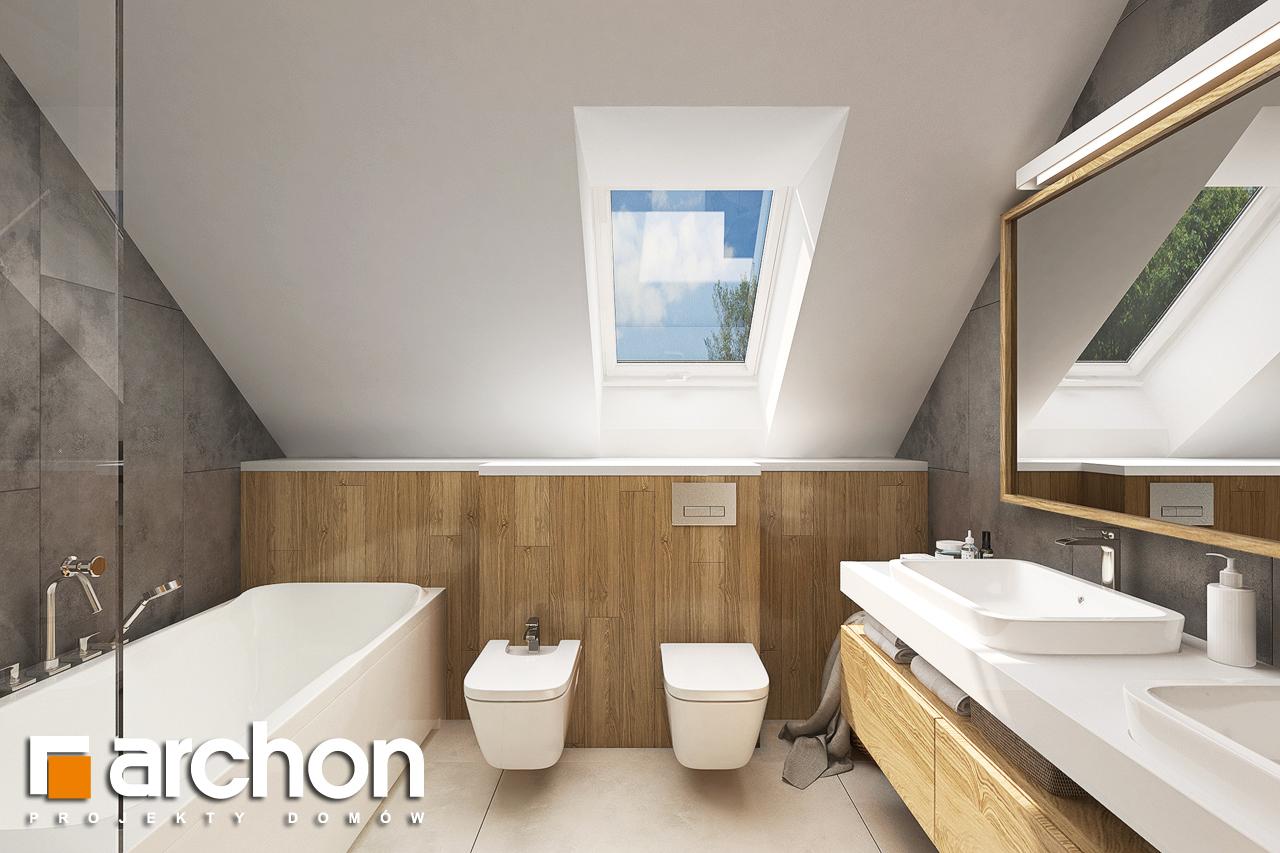 Проект будинку ARCHON+ Будинок в ветіверії  візуалізація ванни (візуалізація 3 від 1)