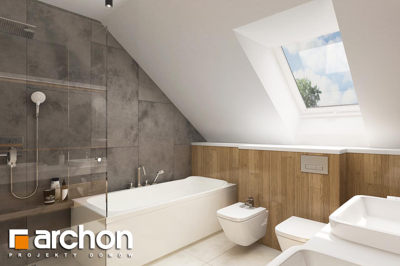 Проект будинку ARCHON+ Будинок в ветіверії  візуалізація ванни (візуалізація 3 від 2)