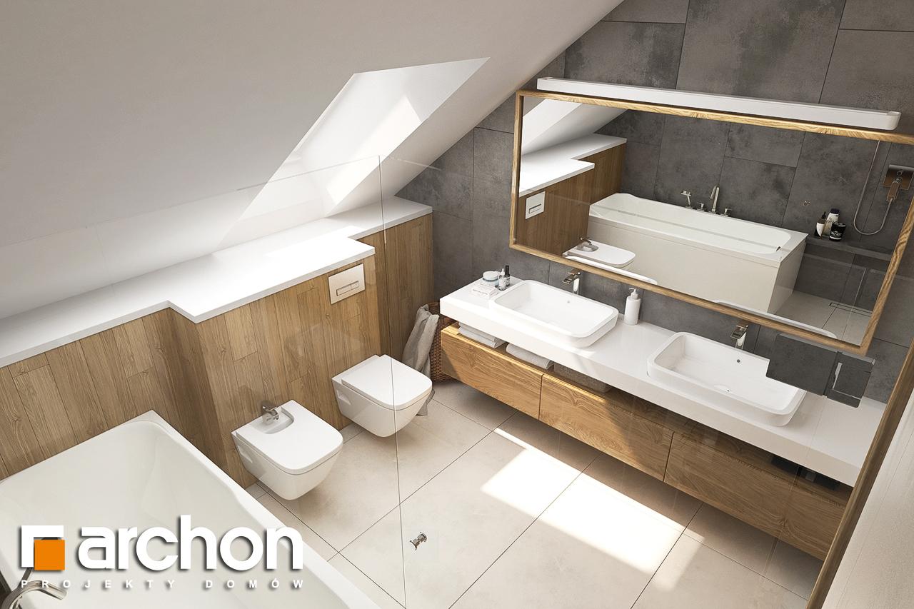 Проект будинку ARCHON+ Будинок в ветіверії  візуалізація ванни (візуалізація 3 від 4)