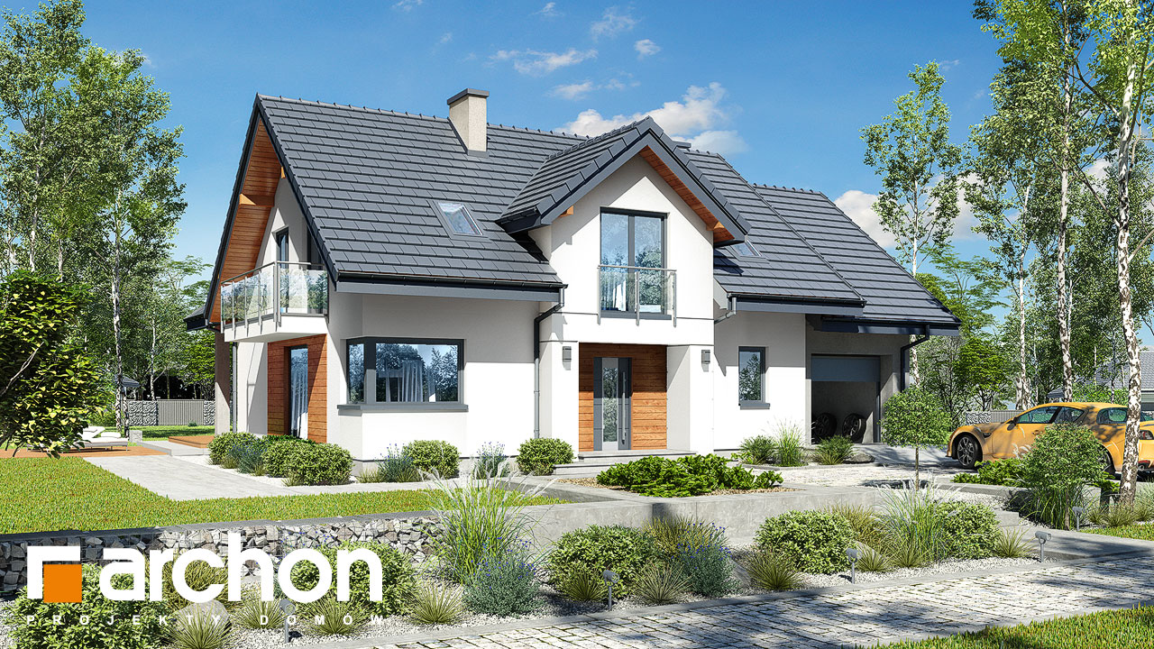 Проект будинку ARCHON+ Будинок в ветіверії  Вид 2