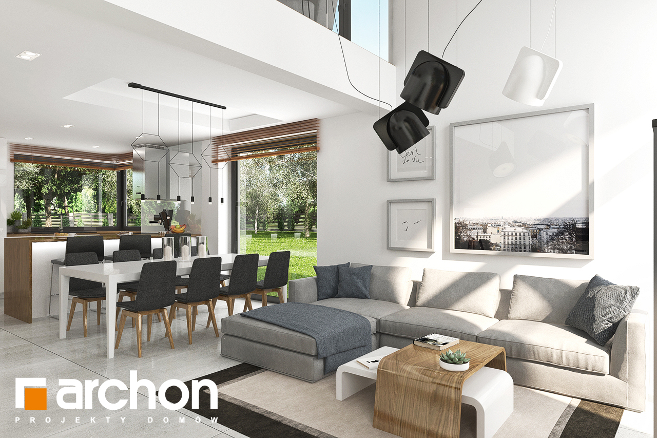 Проект будинку ARCHON+ Будинок в ветіверії  денна зона (візуалізація 1 від 2)