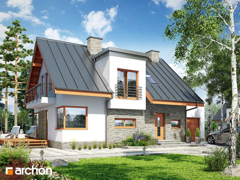 Проект дома ARCHON+ Дом в амариллисах 3 ver.2 стилизация 3