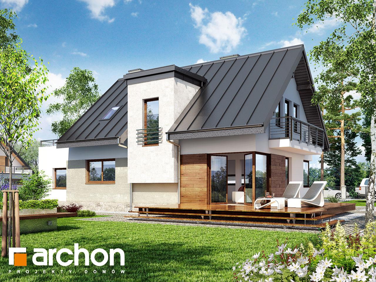 Проект дома ARCHON+ Дом в амариллисах 3 ver.2 Вид 2