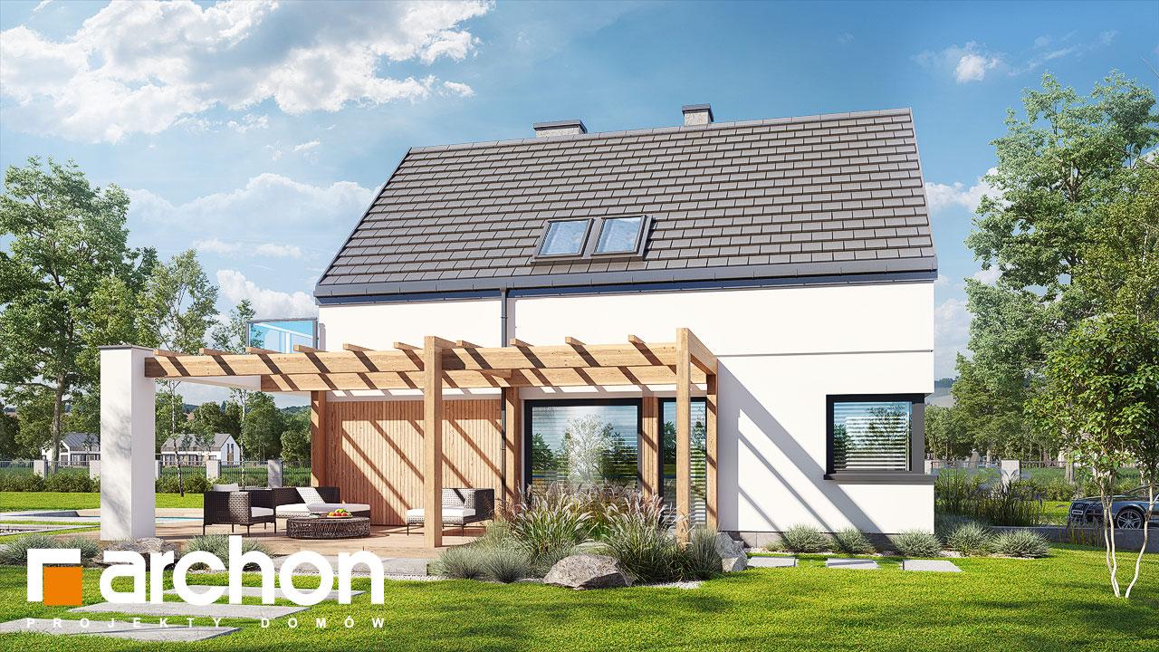 Проект будинку ARCHON+ Будинок в аморфах додаткова візуалізація