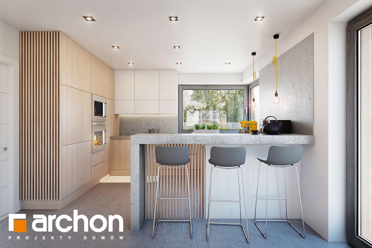 Проект будинку ARCHON+ Будинок в аморфах візуалізація кухні 1 від 1