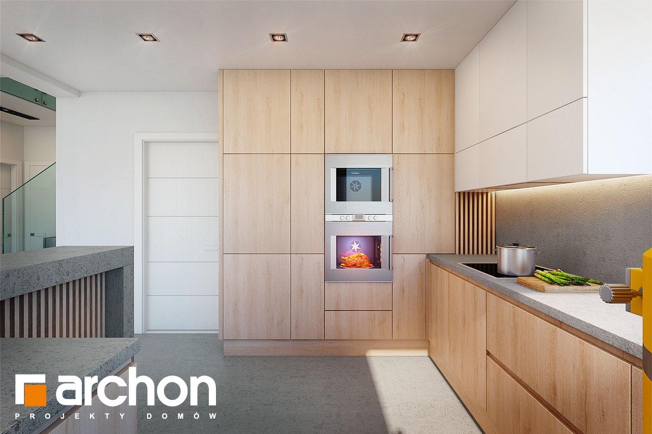 Проект будинку ARCHON+ Будинок в аморфах візуалізація кухні 1 від 2