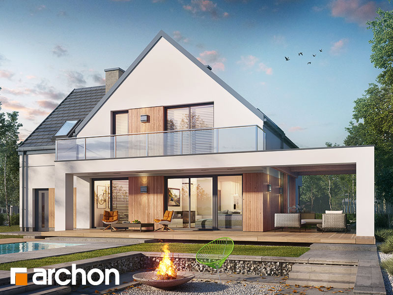 Проект будинку ARCHON+ Будинок в аморфах Вид 1