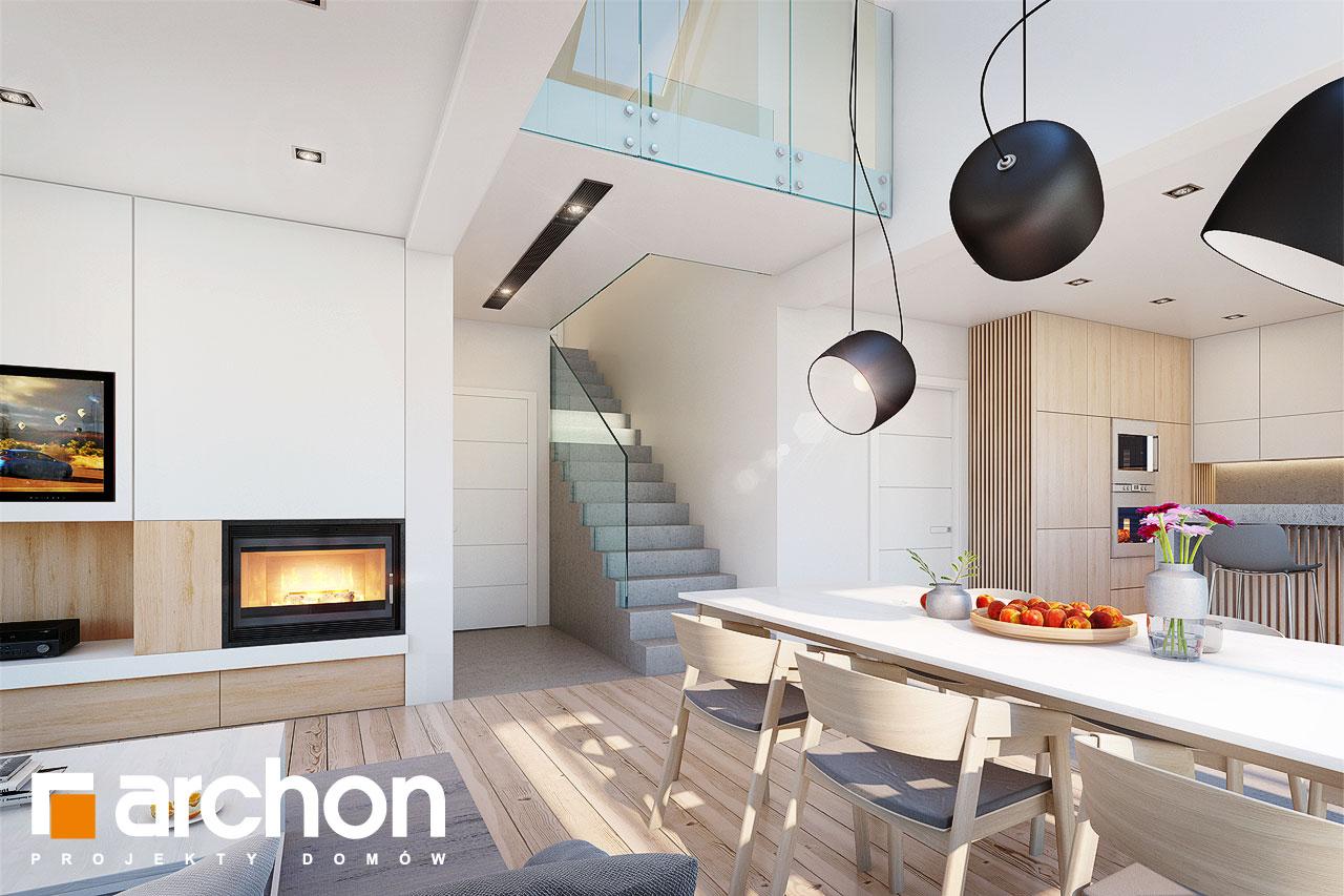 Проект будинку ARCHON+ Будинок в аморфах денна зона (візуалізація 1 від 1)