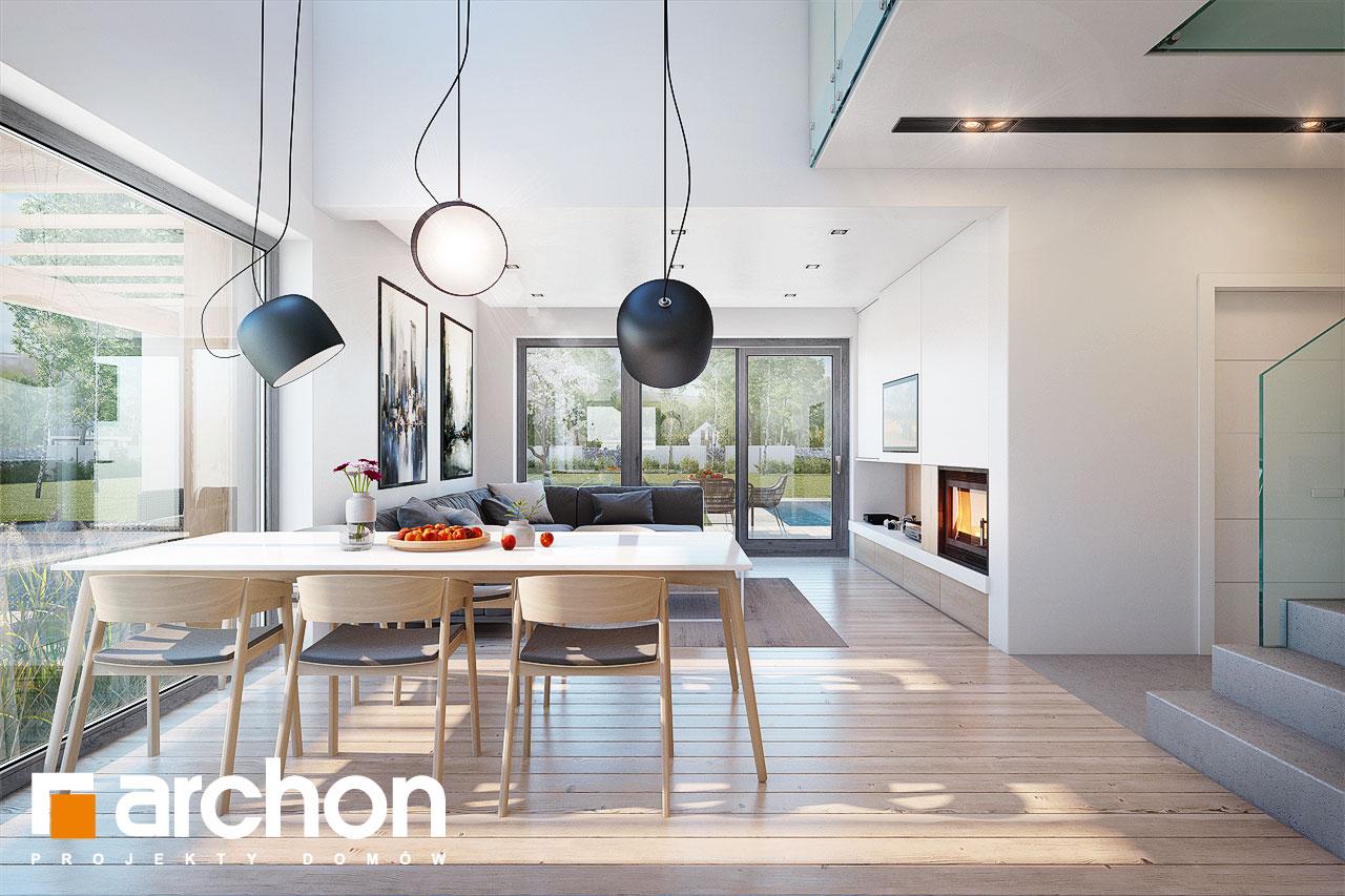 Проект будинку ARCHON+ Будинок в аморфах денна зона (візуалізація 1 від 2)