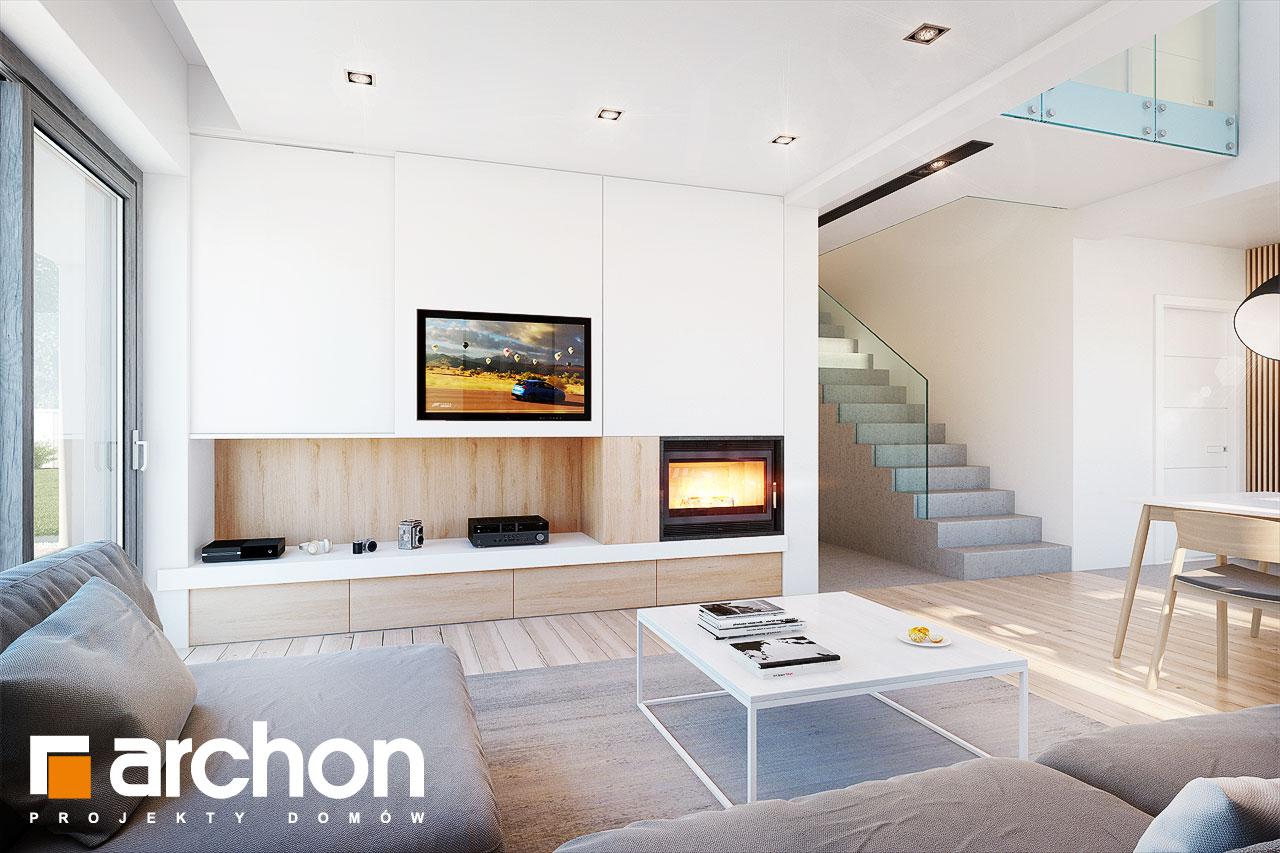 Проект будинку ARCHON+ Будинок в аморфах денна зона (візуалізація 1 від 3)