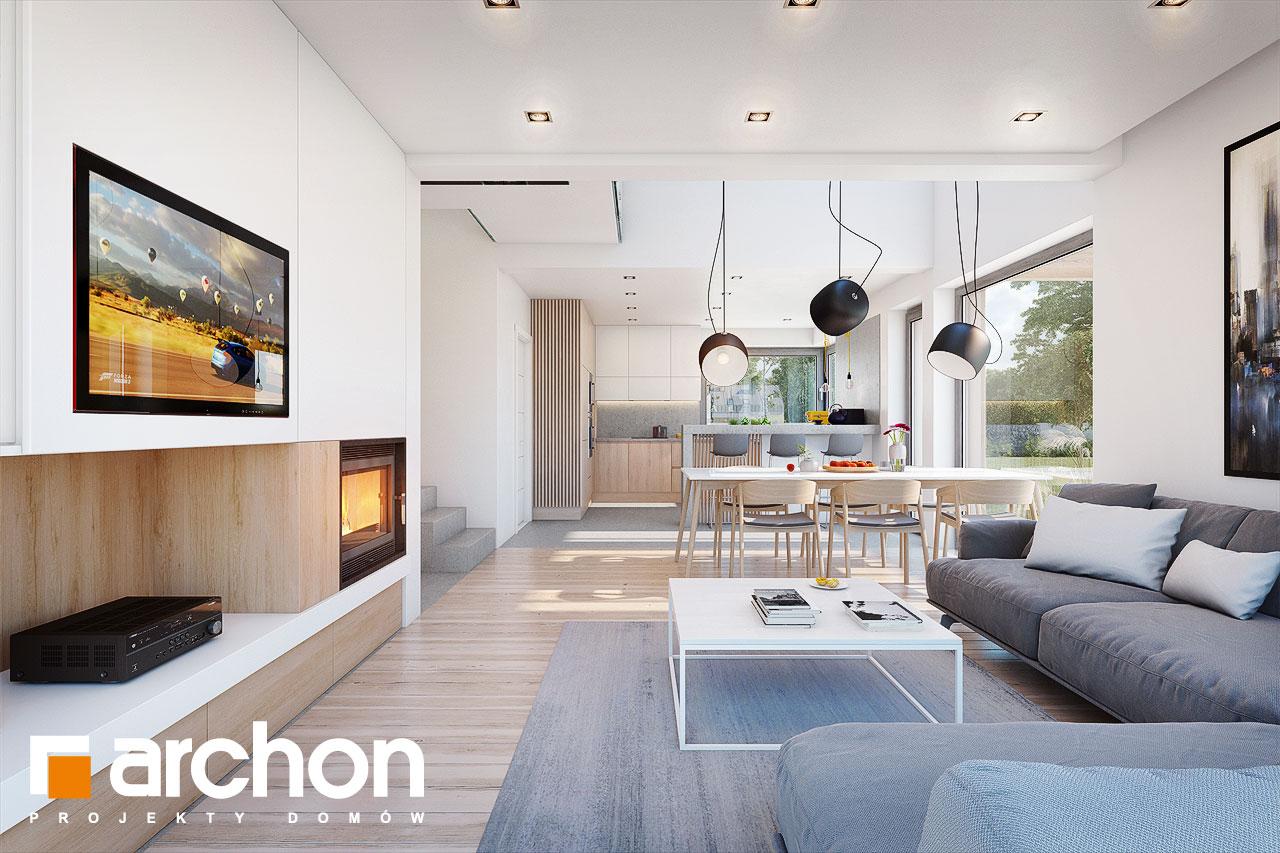 Проект будинку ARCHON+ Будинок в аморфах денна зона (візуалізація 1 від 4)