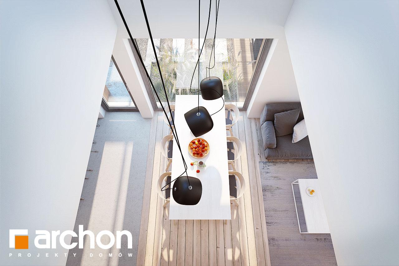 Проект будинку ARCHON+ Будинок в аморфах денна зона (візуалізація 1 від 5)