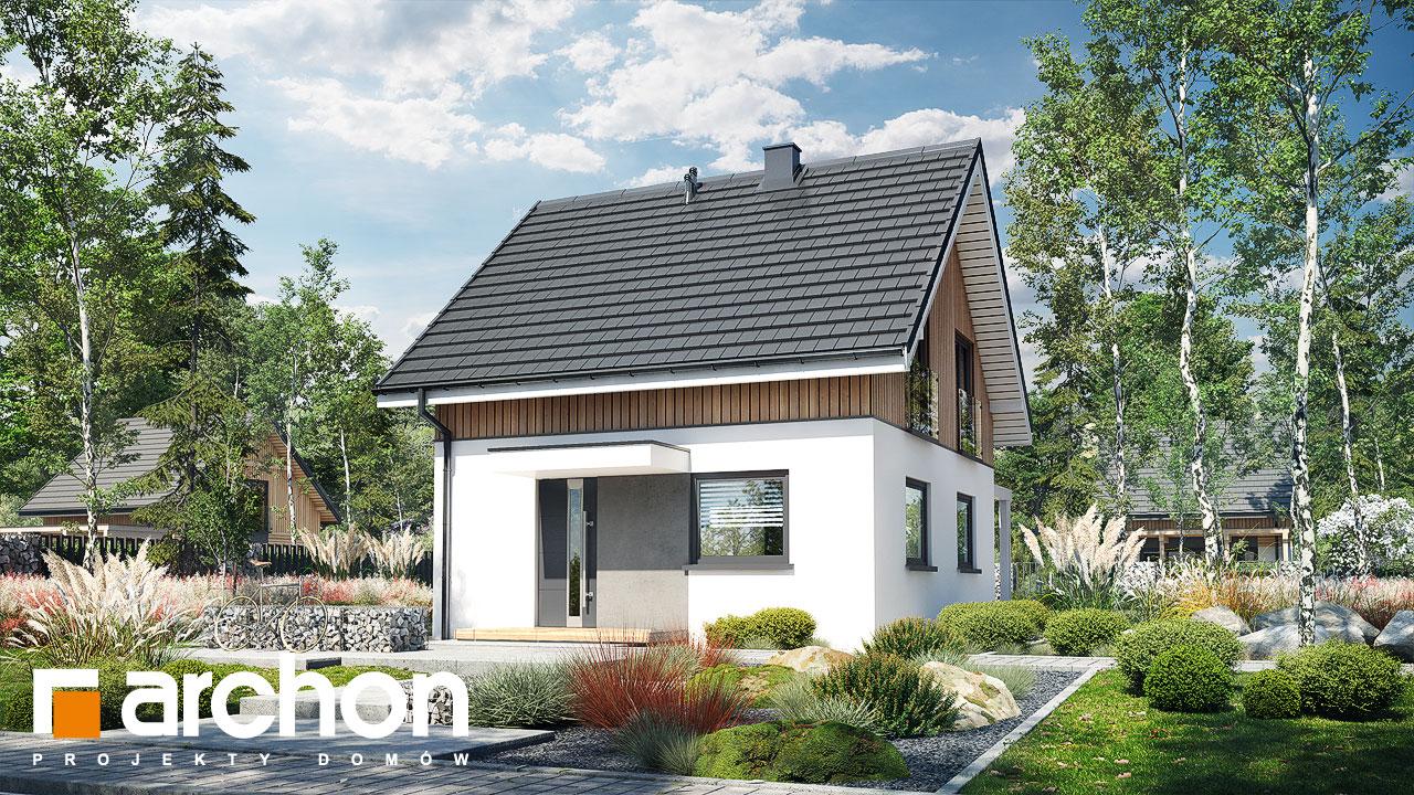 Проект будинку ARCHON+ Літній будиночок на галявині стилізація 3