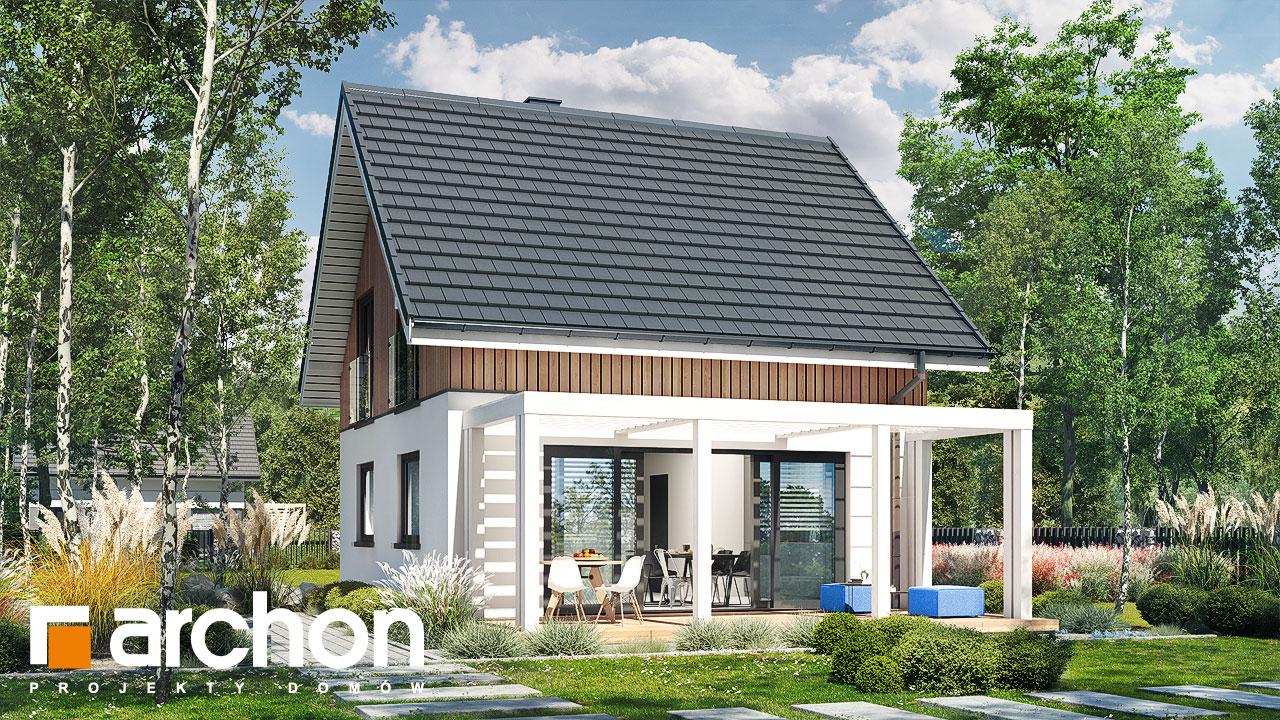 Проект будинку ARCHON+ Літній будиночок на галявині стилізація 4