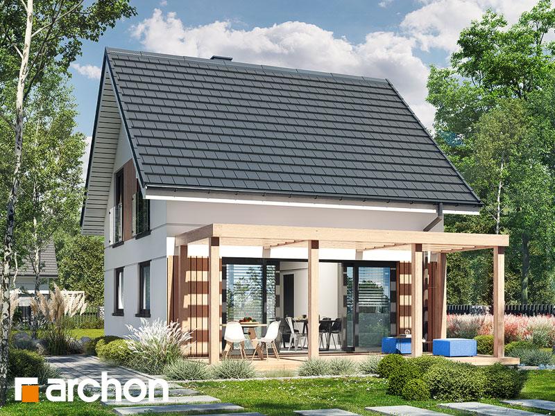 Проект будинку ARCHON+ Літній будиночок на галявині Вид 2