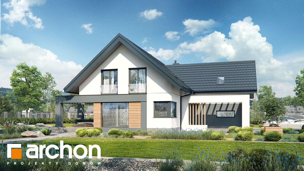 Проект будинку ARCHON+ Будинок в яскерах (Г2Е) додаткова візуалізація