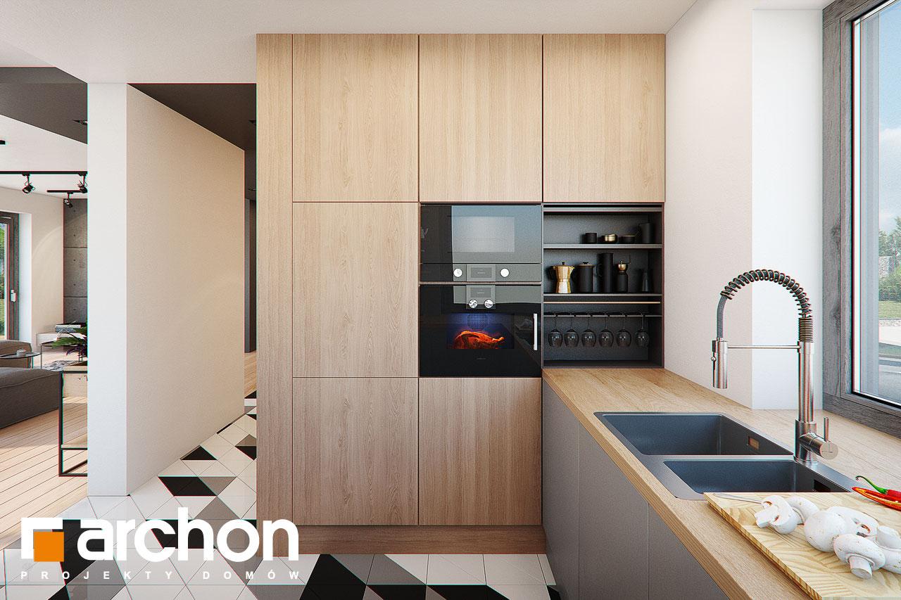 Проект будинку ARCHON+ Будинок в яскерах (Г2Е) візуалізація кухні 1 від 2