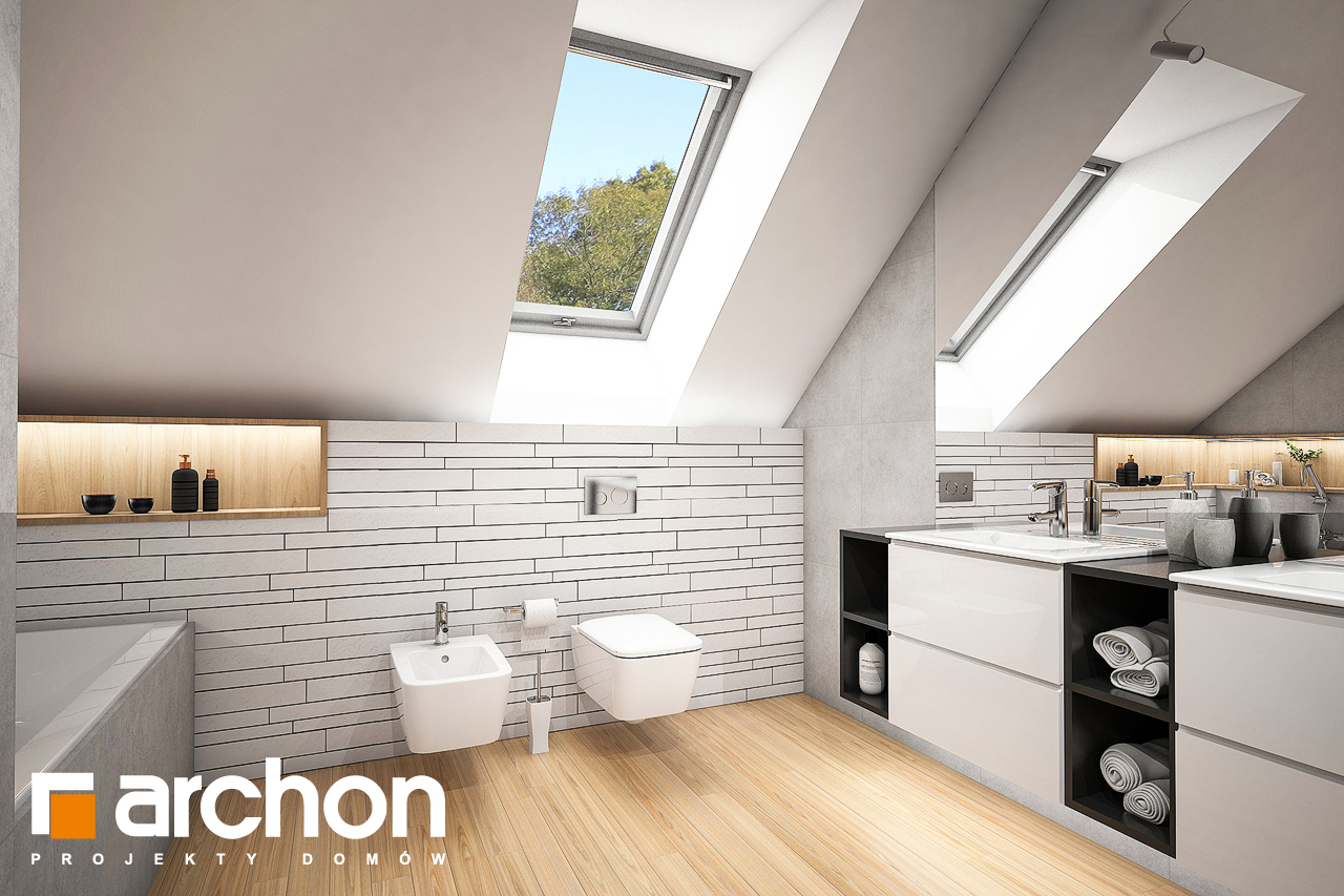 Проект будинку ARCHON+ Будинок в яскерах (Г2Е) візуалізація ванни (візуалізація 3 від 1)