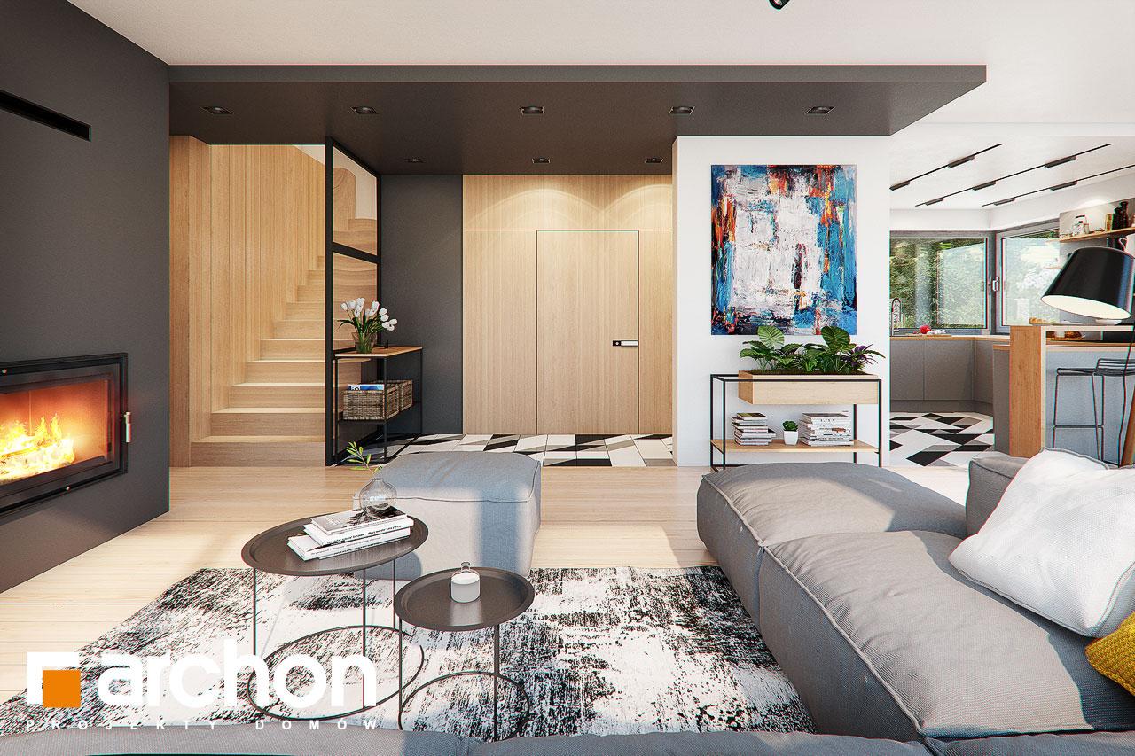 Проект будинку ARCHON+ Будинок в яскерах (Г2Е) денна зона (візуалізація 1 від 1)