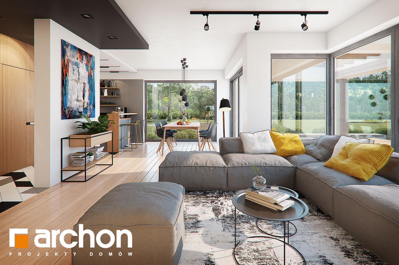 Проект будинку ARCHON+ Будинок в яскерах (Г2Е) денна зона (візуалізація 1 від 2)