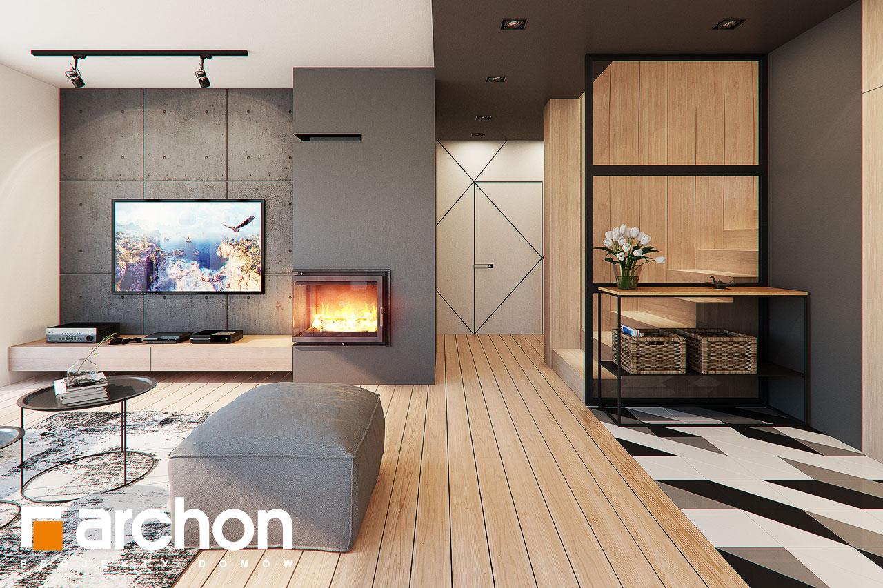 Проект будинку ARCHON+ Будинок в яскерах (Г2Е) денна зона (візуалізація 1 від 4)