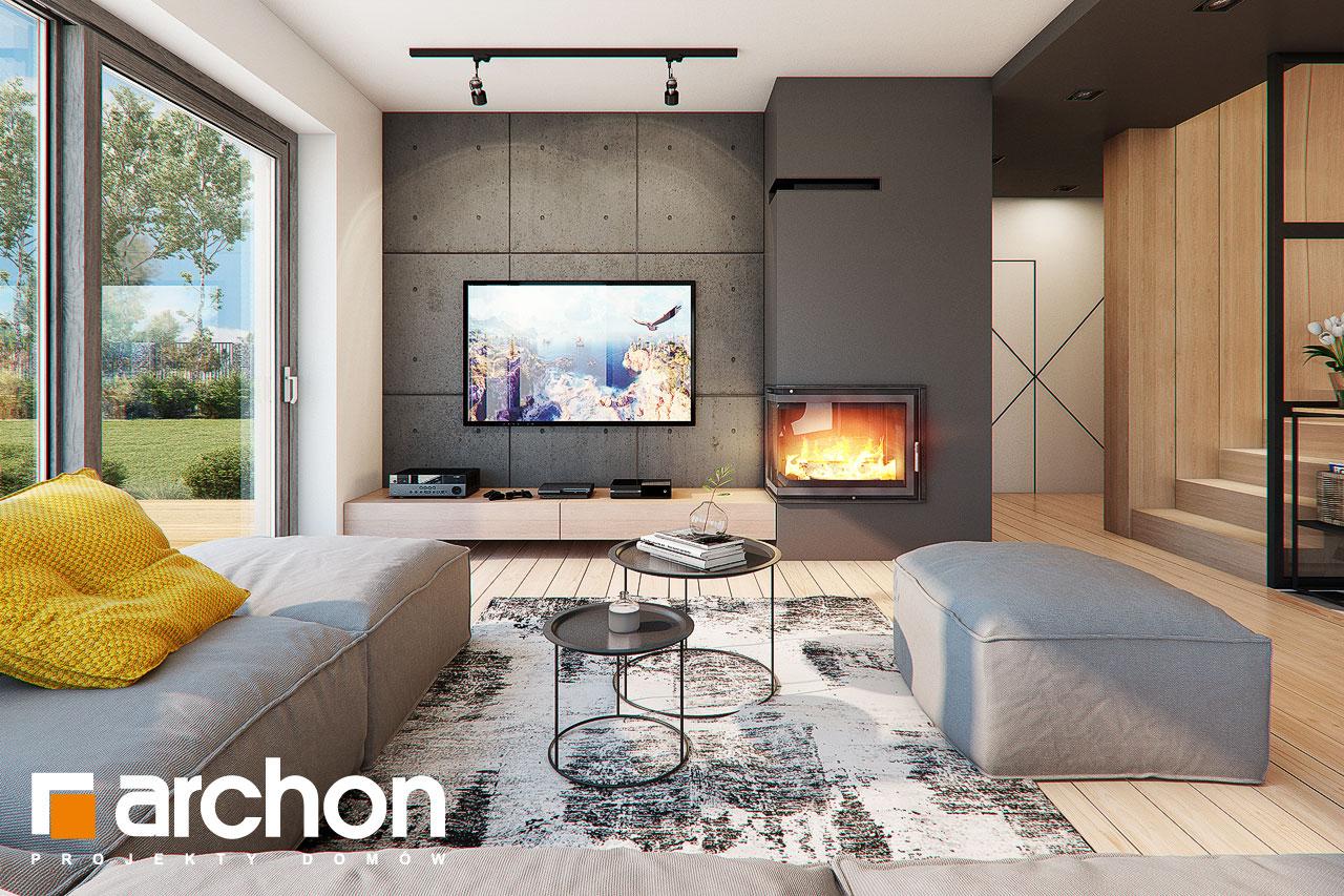Проект будинку ARCHON+ Будинок в яскерах (Г2Е) денна зона (візуалізація 1 від 5)
