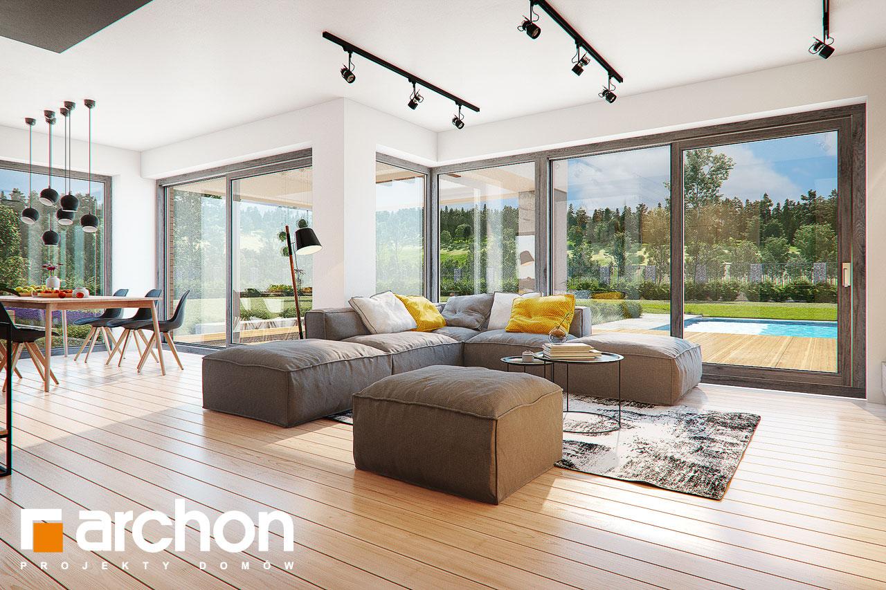 Проект будинку ARCHON+ Будинок в яскерах (Г2Е) денна зона (візуалізація 1 від 6)