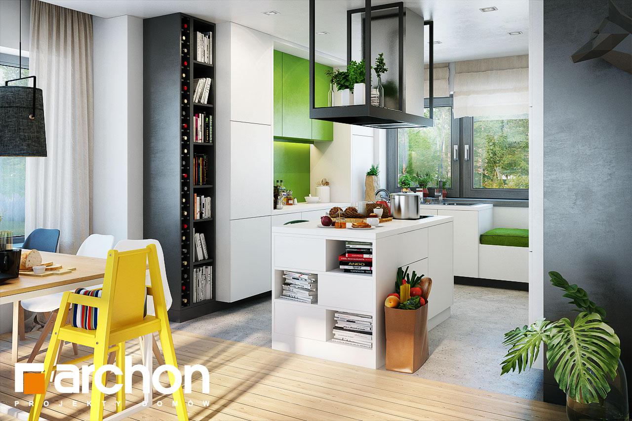 Проект будинку ARCHON+ Будинок під червоною горобиною 15 візуалізація кухні 1 від 1
