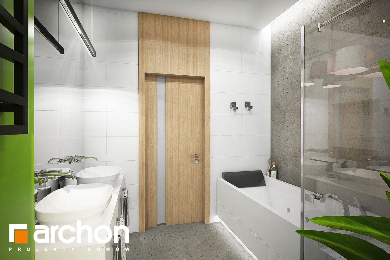 Проект будинку ARCHON+ Будинок під червоною горобиною 15 візуалізація ванни (візуалізація 3 від 2)