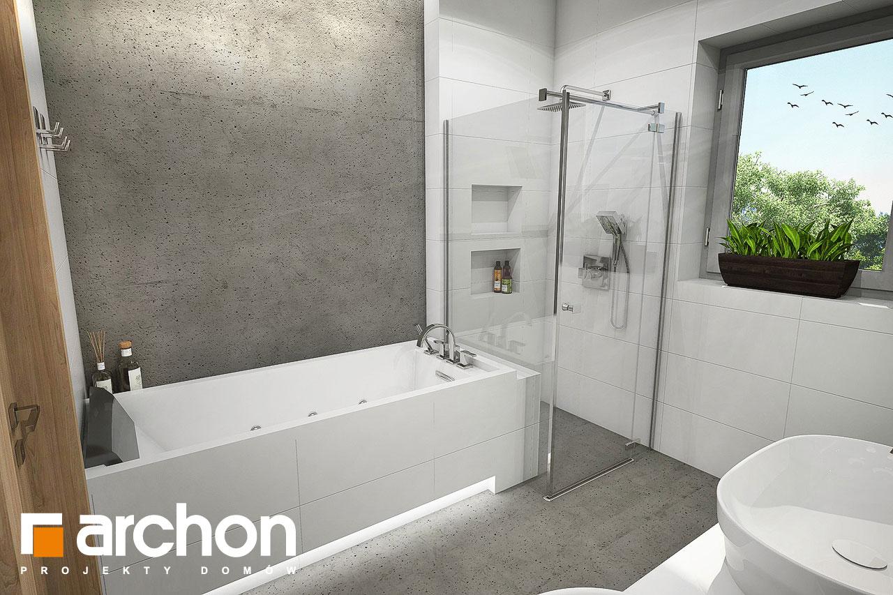 Проект будинку ARCHON+ Будинок під червоною горобиною 15 візуалізація ванни (візуалізація 3 від 3)