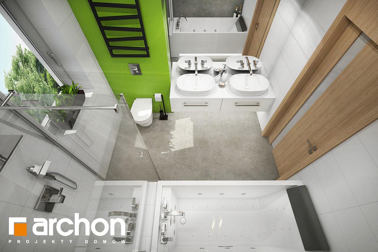 Проект будинку ARCHON+ Будинок під червоною горобиною 15 візуалізація ванни (візуалізація 3 від 4)