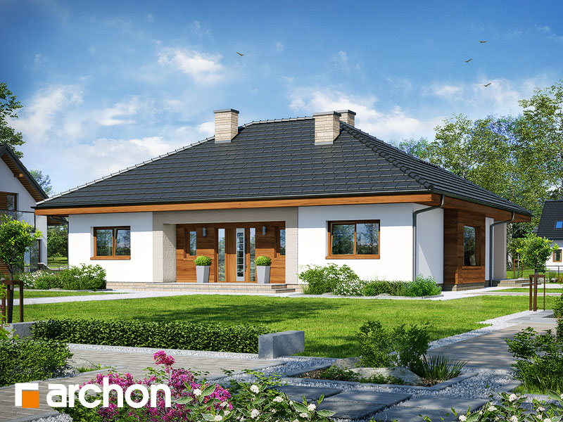 Проект будинку ARCHON+ Будинок під червоною горобиною 15 Вид 1