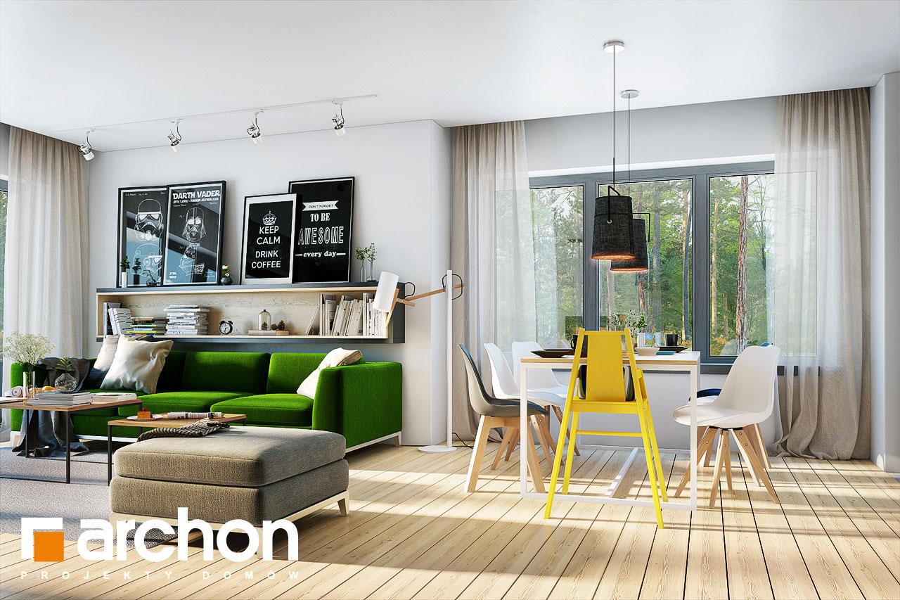 Проект будинку ARCHON+ Будинок під червоною горобиною 15 денна зона (візуалізація 1 від 2)