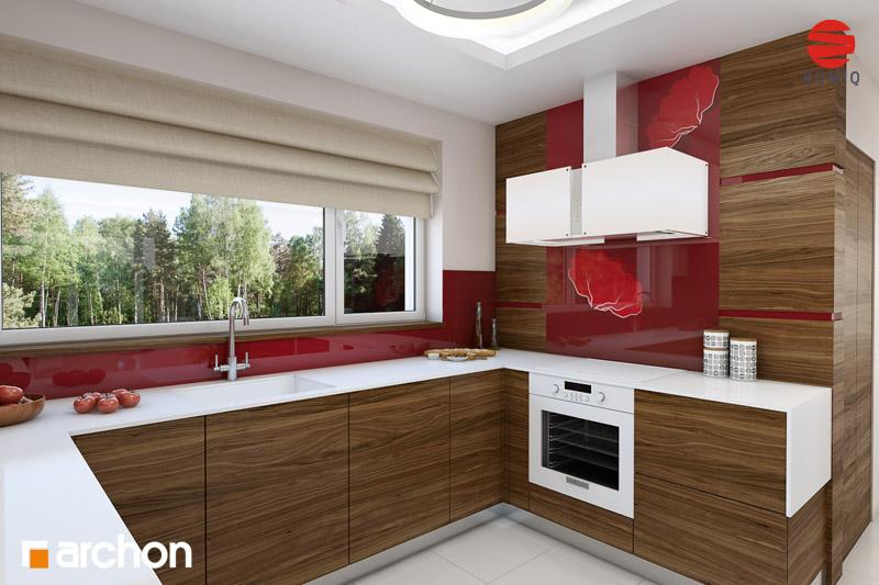 Проект будинку ARCHON+ Будинок у вербені (Н) вер.2 аранжування кухні 1 від 2