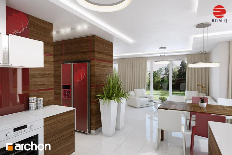 Проект будинку ARCHON+ Будинок у вербені (Н) вер.2 аранжування кухні 1 від 3