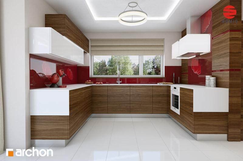 Проект будинку ARCHON+ Будинок у вербені (Н) вер.2 аранжування кухні 1 від 4