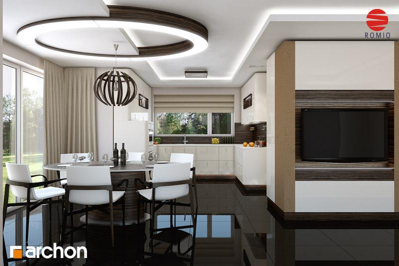 Проект будинку ARCHON+ Будинок у вербені (Н) вер.2 аранжування кухні 2 від 1