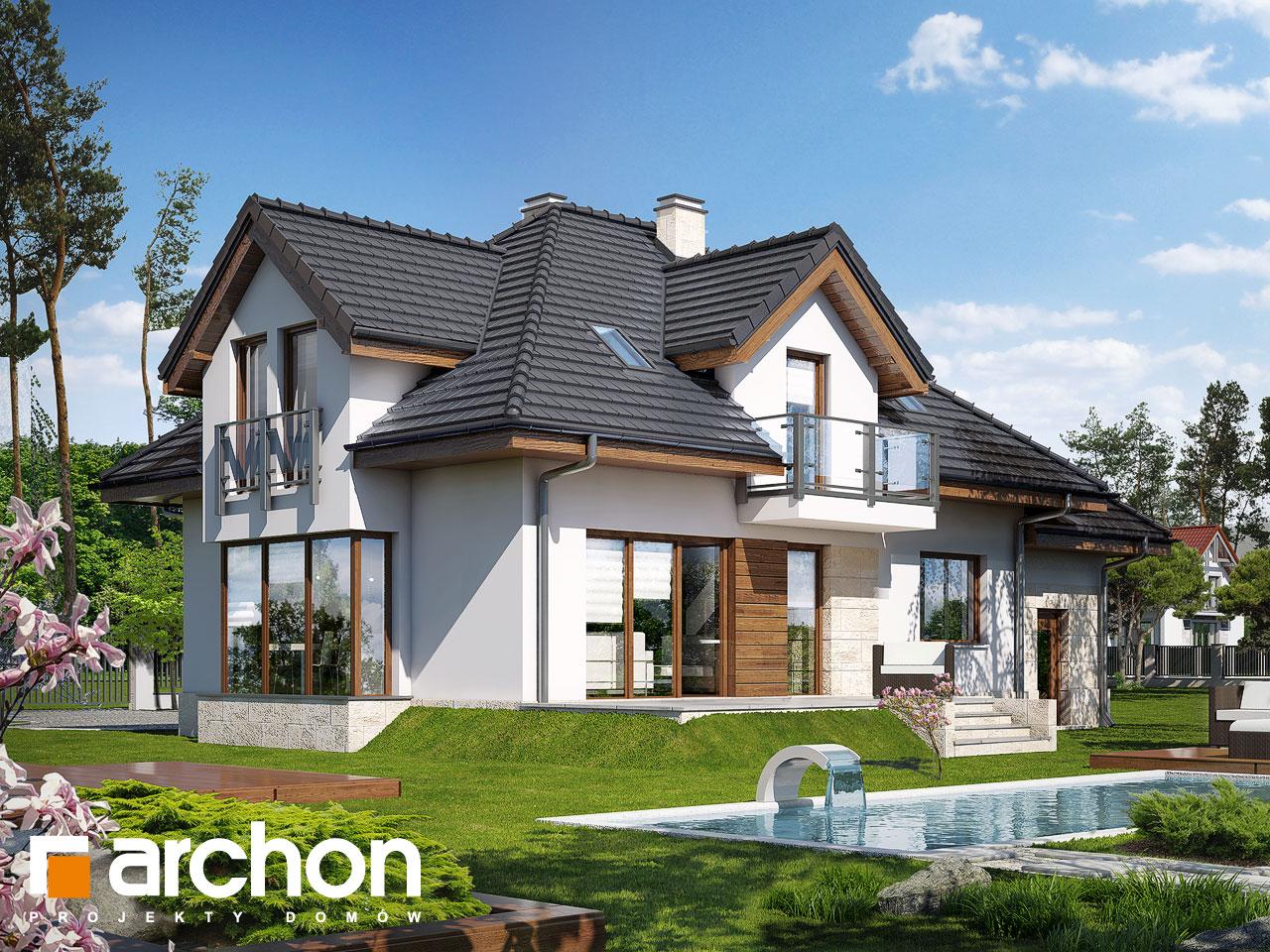 Проект будинку ARCHON+ Будинок у вербені (Н) вер.2 Вид 2