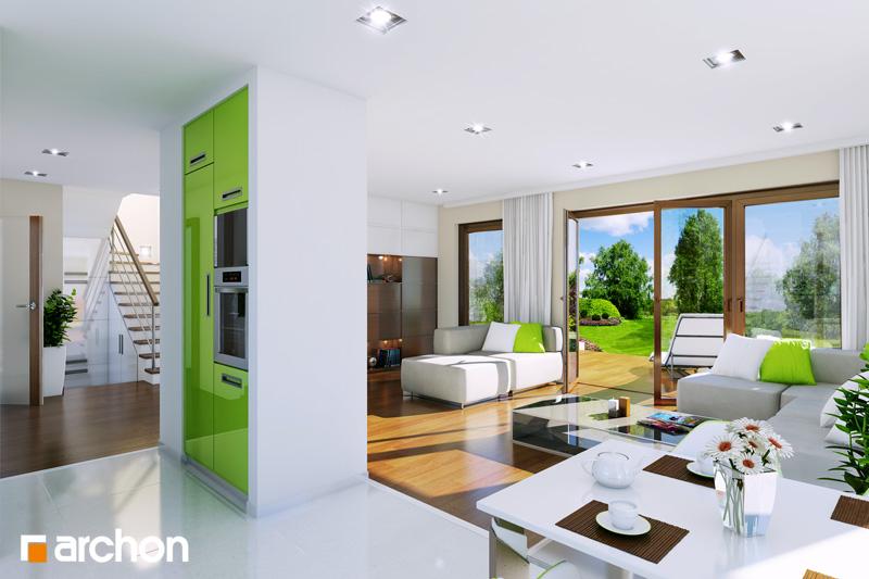 Проект будинку ARCHON+ Будинок у вербені (Н) вер.2 денна зона (візуалізація 1 від 1)