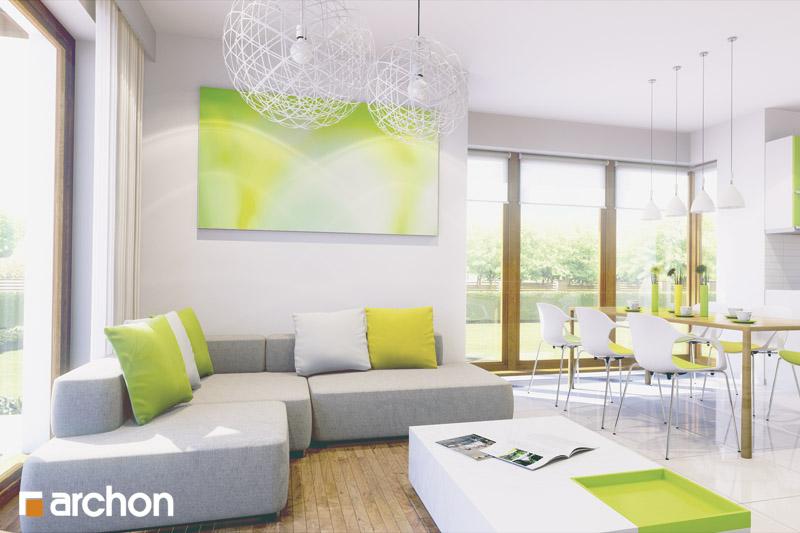 Проект будинку ARCHON+ Будинок у вербені (Н) вер.2 денна зона (візуалізація 2 від 1)
