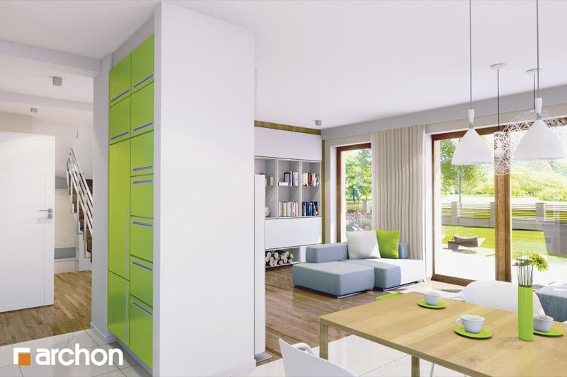 Проект будинку ARCHON+ Будинок у вербені (Н) вер.2 денна зона (візуалізація 2 від 2)